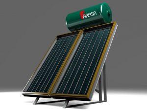 مهندسی انرژی - طرح شماتیک آبگرمکن خورشیدی فراسا